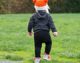 Merino Wool Leggings / Black / Yoga style Waistband / Baby leggings / Toddler pants / Base Layer