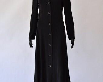 1990s / Matsuda Nicole black button down dress
