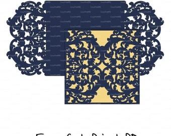 hochzeit briefpapier einladung art deco jugendstil monogramm, Einladungen