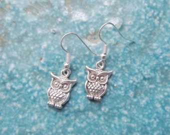 Owl earrings, owl jewelry