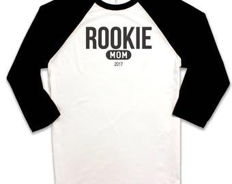 Rookie Mom 2017 Baseball Tee Raglan