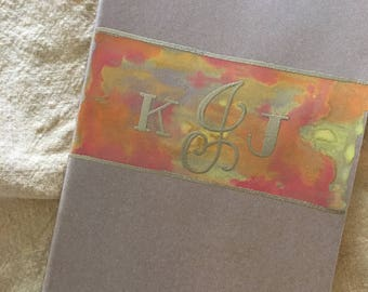 Journal : Custom Watercolor and Gold Embossed Monogram