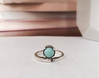 Round Ring / Turquoise /  Sterling Silver / 925 / Handcrafted