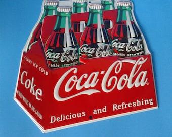 "Tin Sign * Coca Cola Coke 6 Pack * 11.5"" x 14"""