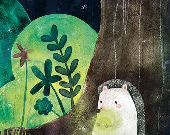 The Hedgehog and the treasure Print