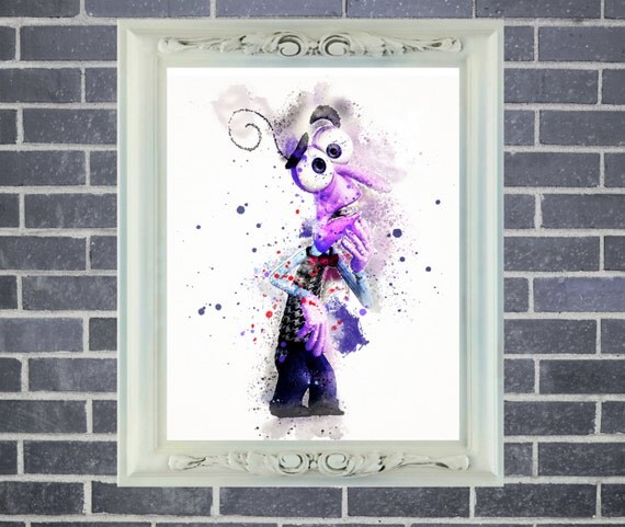 Inside Out Fear Art Print ~ Watercolor Painting, Home Decor, Nursery Decor, Wall Poster, Art by Star Dangle