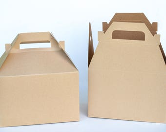 """Gable Boxes, 10 Welcome Boxes, Paper Boxes, Gift Boxes, Favor Boxes, Kraft Boxes, Wedding Favor Boxes, Guest Boxes 8"""" x 4 7/8"""" x 5 1/4"""""""