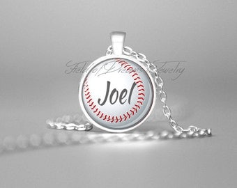 CUSTOM BASEBALL NECKLACE Coach Gifts Sports Jewelry Sports Coach Pendant Baseball Necklace Baseball Charm Gift for Coach Baseball Fan Gifts