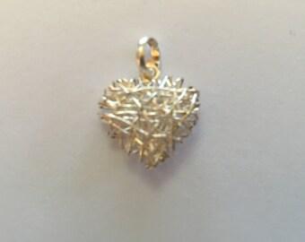 Silver filaments pendant.