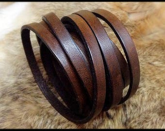 15% off 4th OF JULY SALE - Brown leather wrap bracelet/cuff - ladies/mens - Black bracelet - handcrafted by A9 Design