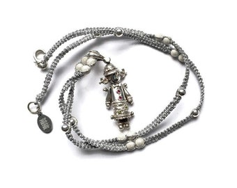 Vintage Rag Doll Charm Necklace, Solid Silver Charm, Silver Doll Charm, Vintage Silver Charm Necklace, Vintage Charm Pendant, UK Shop