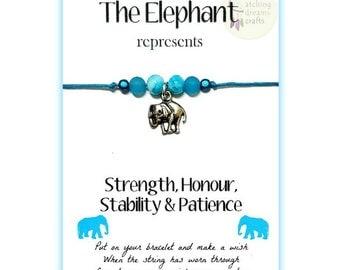 The ELEPHANT... Inspirational WishLet (Wish Bracelet)