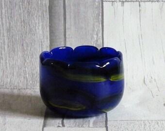 Vintage 1980s Mtarfa Malta Art Glass Vase