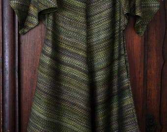 Unique handspun handwoven silk tunic