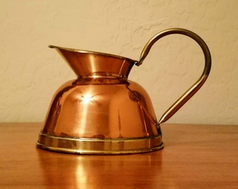 Antique Pitcher Copper And Brass  ELPEC Made In England Vintage