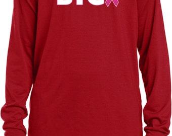 Kid's Breast Cancer Awareness Shirt Dream Big Youth Moisture Wicking Long Sleeve Shirt 18783-YST700LS