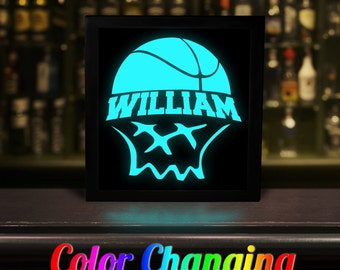 Basketball Sign, Basketball, Basketball Decor, Basketball Room, Basketball Light, Home Decor, Lighting, Light Box, Nightlight, Light Up Sign