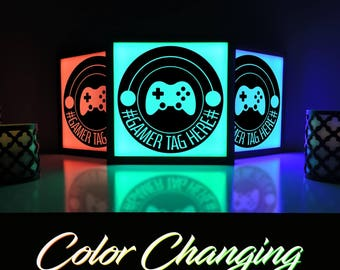 Gaming Decor, Gaming Sign, Gaming Art, Video Game Decor, Custom Gamer Tag, Video Game Wall Art, Gamer Gifts for Him, Video Game Room Art