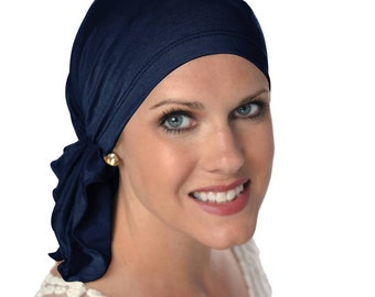 Soft Bamboo Slip-On Scarf | Pre-Tied Scarves for Women | Cancer Scarves | Chemo Scarves | Tichel & Head Covering | Gifts for Cancer Patients