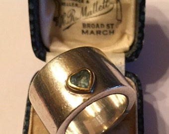 Vintage Silver Heart ring, fantastic piece.
