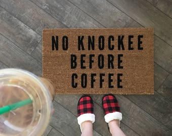 Coffee Door Mat / Funny Door Mat / Coffee Doormat / Funny Welcome Mat / Custom Doormat / Personalized Gift / Cute Doormat / Hello Doormat