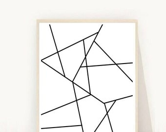 Geometric Art Print, Printable Wall Art, Diamond Print, Instant Download, Modern Wall Art, Abstract Art Print
