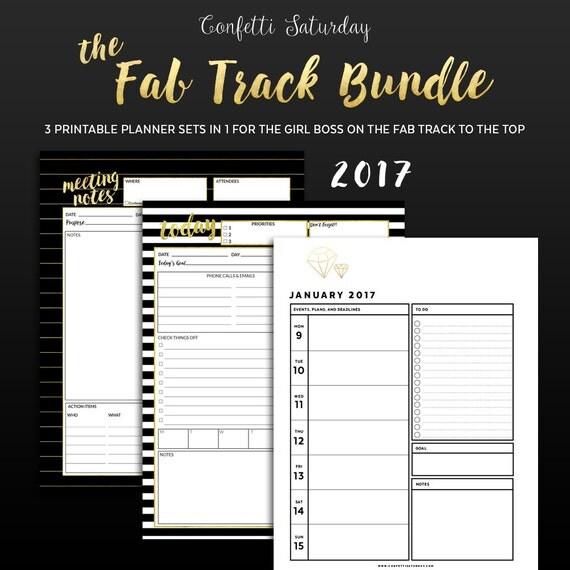 girl boss printable planner bundle fab track by