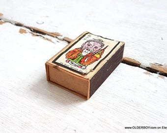 Vtg China wooden TIN WAH MATCH co box Vintage Chinese Matchbox Labelsmatchbox Chinese matches box match box matches wooden box vtg K09/834