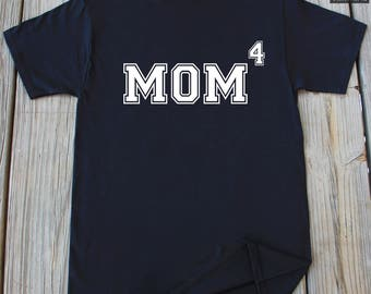 Mom of four Shirt Mommy Shirt New Mom Mother's Day Shirt Mom 4th time gift for Mommy gift for mom new baby announcement gift New mom gift