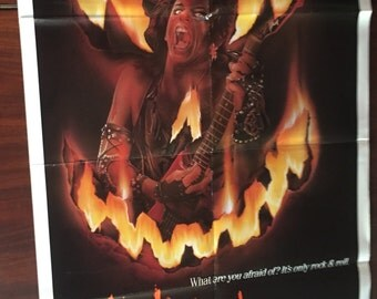 Trick or Treat Original Movie Poster / 1986 Vintage Film Poster