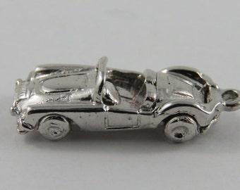 Convertible Car Sterling Silver Vintage Charm For Bracelet