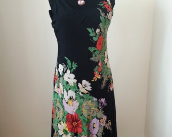 Chiffon Dress, Women's Dress, Floral Dresses, Bride's Maid Dress, Gifts for Her, Vintage Dress, Summer Dresses, Weddings, Party Dress,