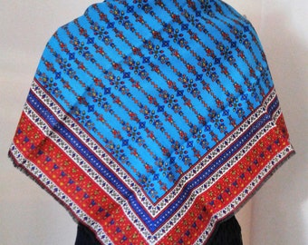 Boho Chic Scarf, Bohemian Scarves, Gypsy Scarf, Multi Colored Scarf