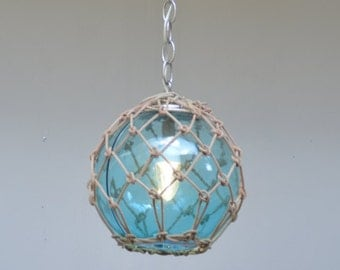 Vintage Glass Fishing Float Pendant Light - Custom