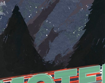 Motel Americana Screen Print