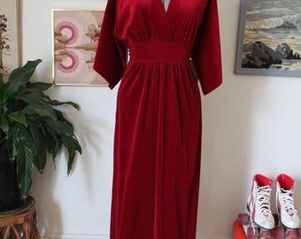 1970s maxi dress/ lounge dress