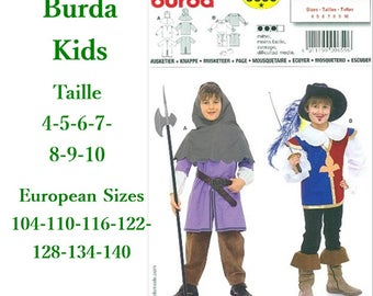 Burda, 9659, Musketier, knappe, loose fitted, 4-10, 6 models, 7 sizes, new, uncut, never used
