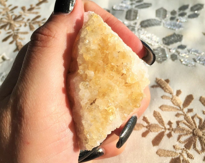 Citrine Cluster Crystal infused w/ Reiki Perfect Yoga Gift