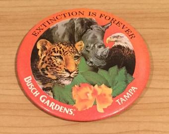 Vintage Busch Gardens Tampa Badge