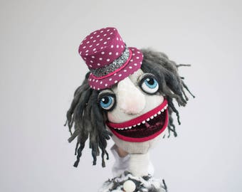 Bobby - hand puppet / muppet, original custom made doll