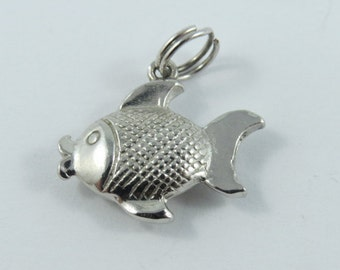 Small Fish Sterling Silver Charm.