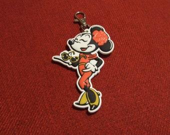 Minnie Mouse Keychain, Disney Keychain, Disney Key Chain, Minnie Mouse Key Chain, Keychain, Minnie Mouse Zipper Pull, Disney Zipper Pull