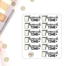 Homework Time Planner Stickers