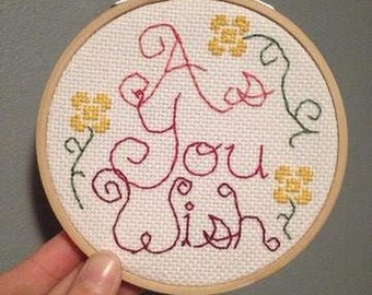As You Wish Cross Stitch Pattern