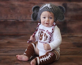 Baby Onsie | Alabama Onesie | Football Leg Warmers | Football | Baby Boy |Baby Girl | Baby Shower Gift | Boys Clothes | Georgia Baby | Bama