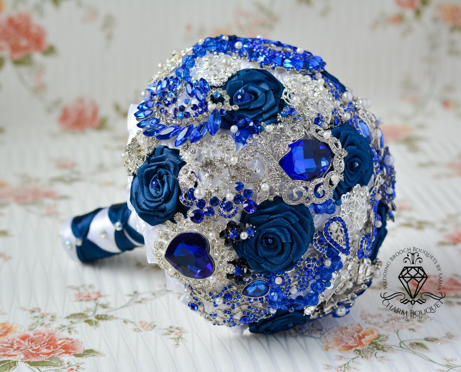 Royal Blue And Silver Wedding Bouquet – Skyranreborn