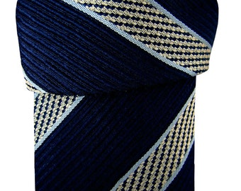 PAL ZILERI Tie Dark Blue – Stripes - TEXTURED