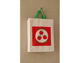 Green Tomato, Reusable Grocery Bag, Free Shipping, Farmers Market Bag, Eco Friendly Bag