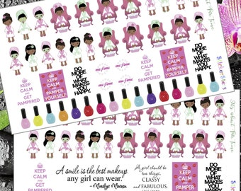"""It's About """"Me"""" Time Pamper Yourself Cute Planner Stickers"""