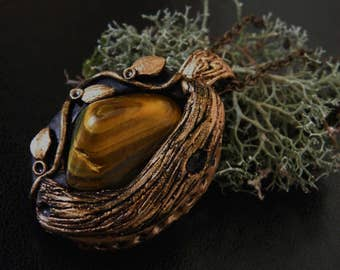 Tiger's eye Forest Pendant